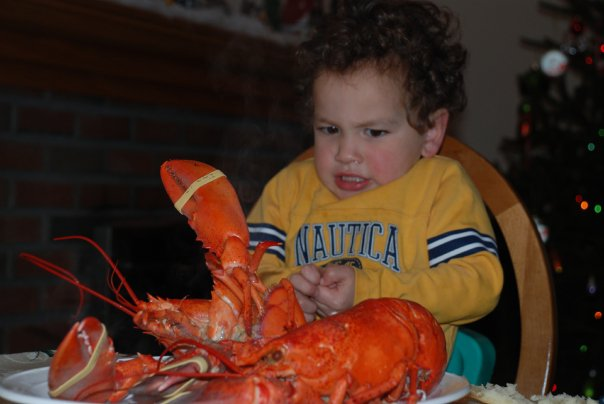 Mommy, I don't want to eat the lobster!
