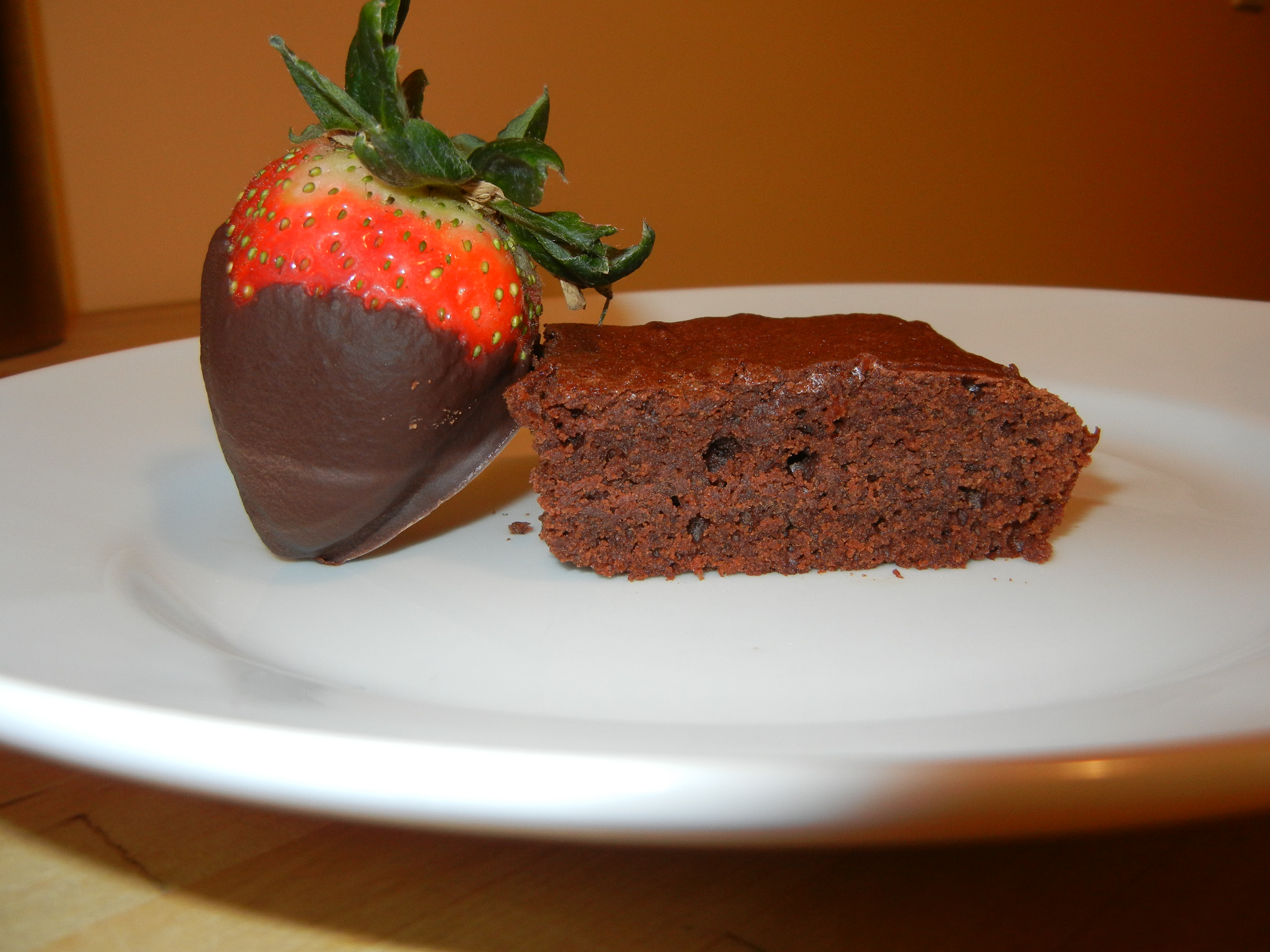 Strawberries and brownies