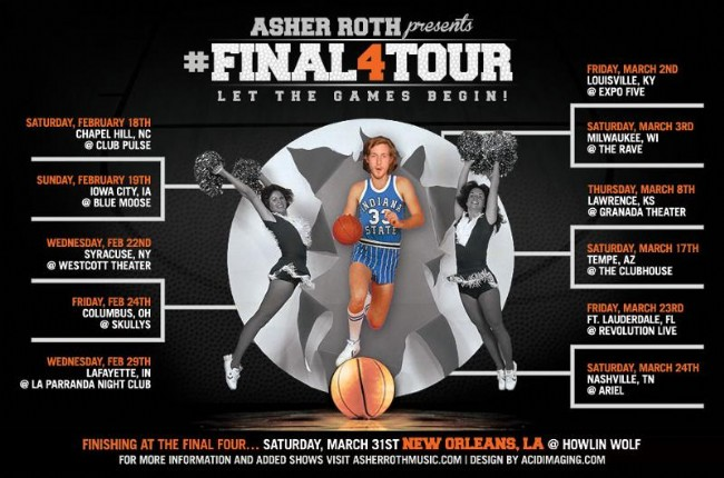 "Asher Roth Announces ""Final Four Tour"""