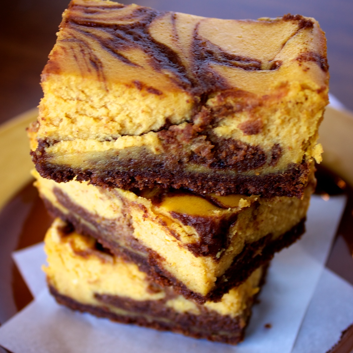 Orangecello Chocolate Cheesecake Squares Recipe — Dishmaps