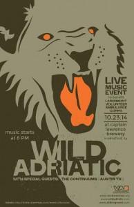 Wild Adriatic charity concert poster 2014
