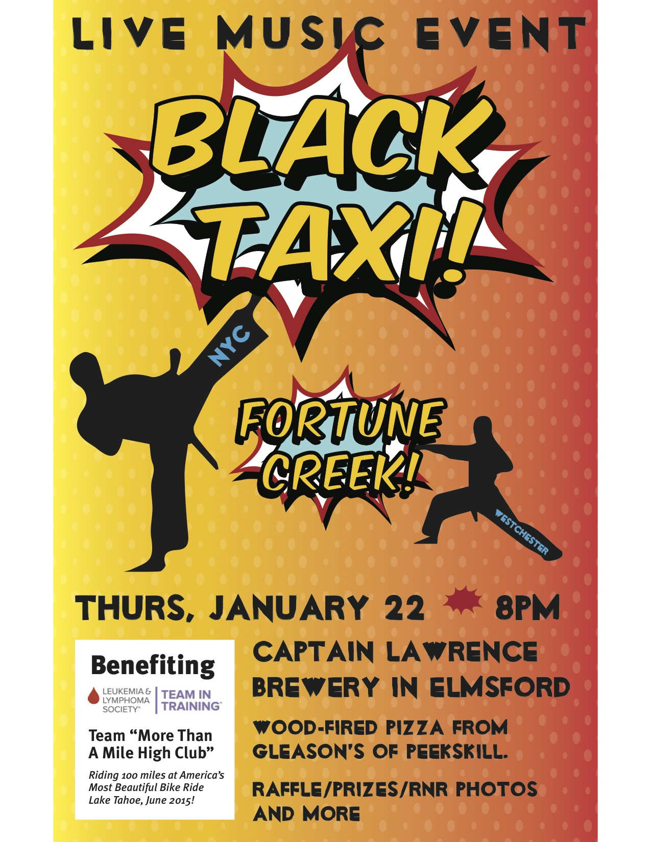 Next Charity Concert Featuring Black Taxi