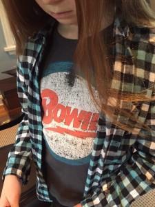 A wearing D Bowie T