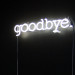 goodbye neon sign