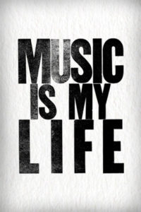 music-is-my-life-bw